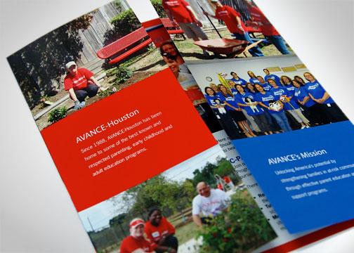 Avance gatefold-brochure