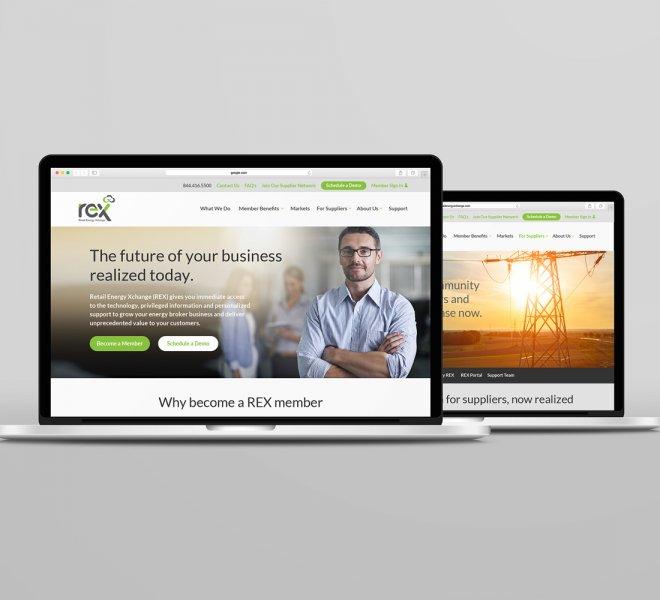Retail Energy Xchange web design