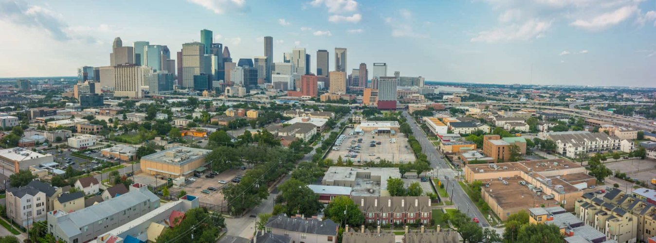 Downtown Houston aerial view