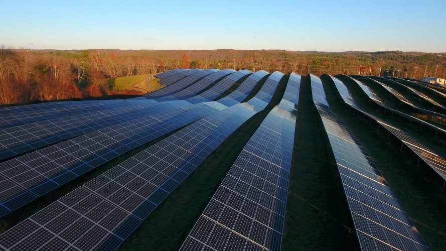 NRG Community Solar Farm MA aerial photography