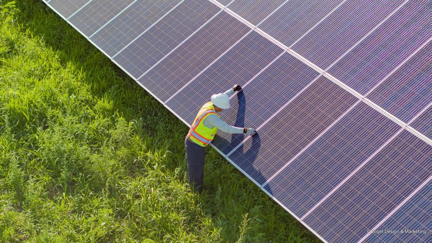 Community solar farm technician2