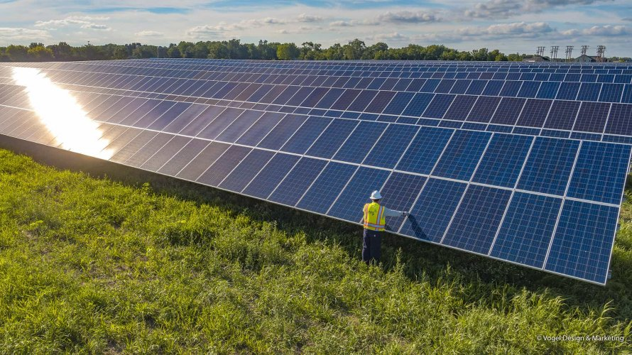 NRG Community Solar farm maintenance