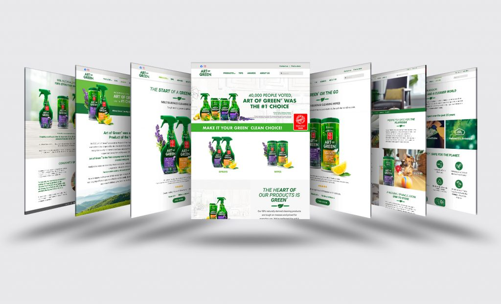 art of green website multi-pages