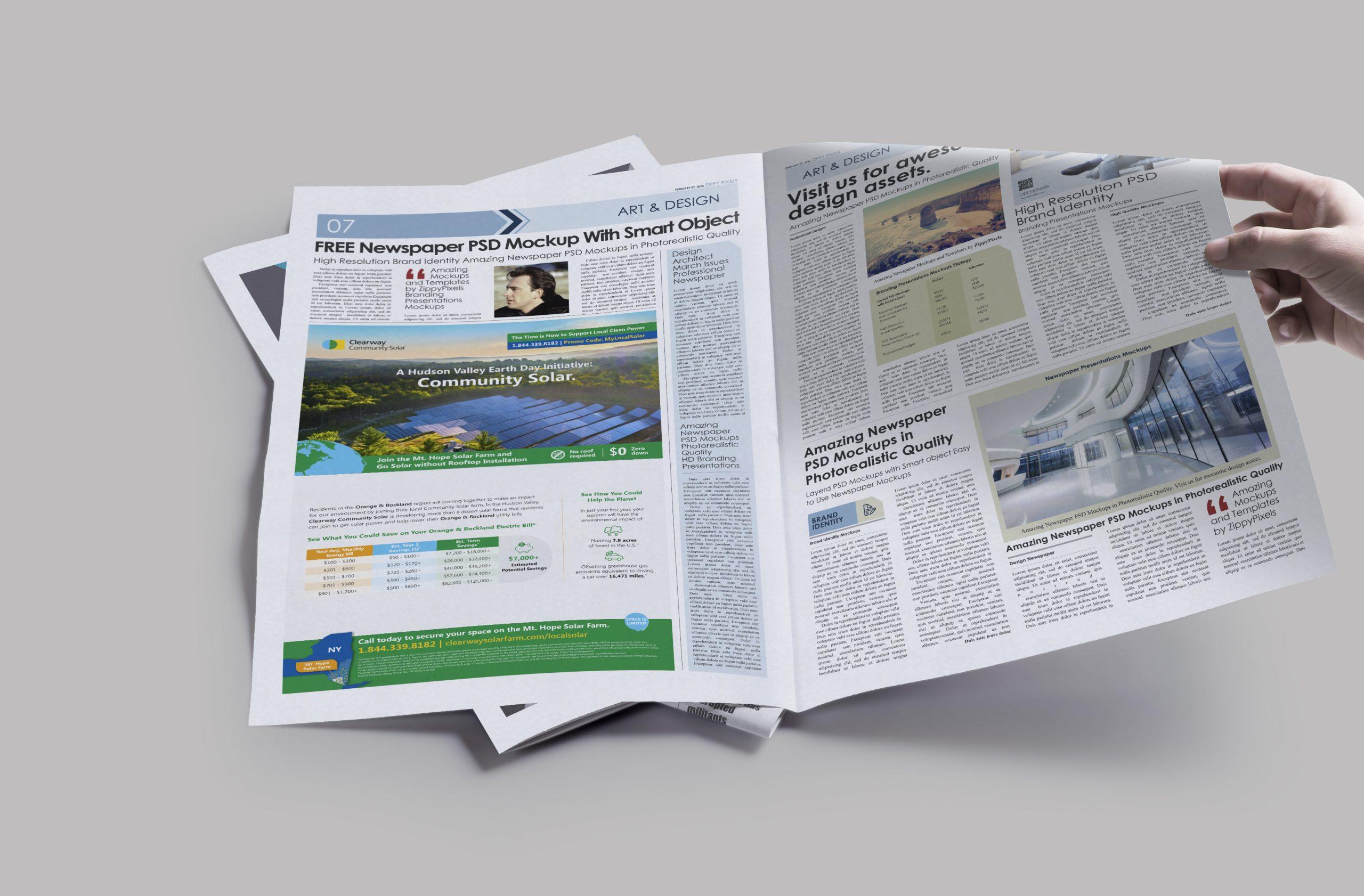 clearway-community-solar newspaper-ad