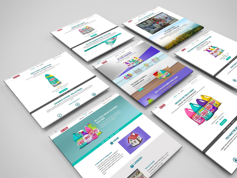 cloralen website multi-pages
