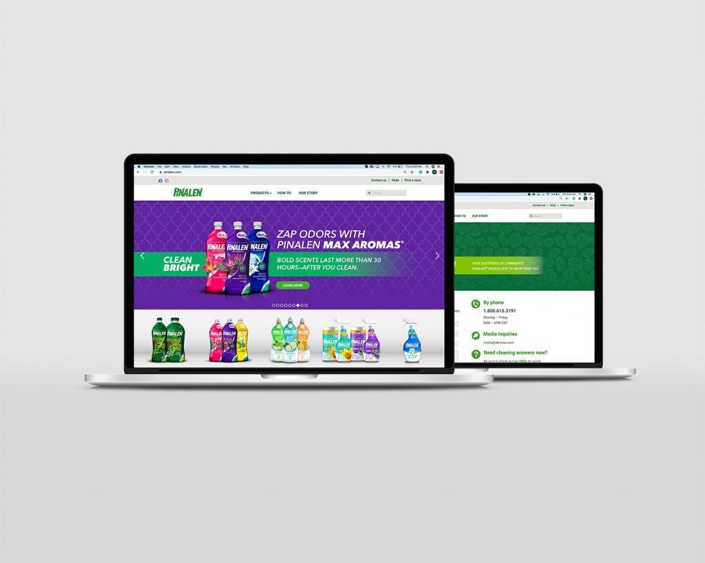 pinalen website laptop