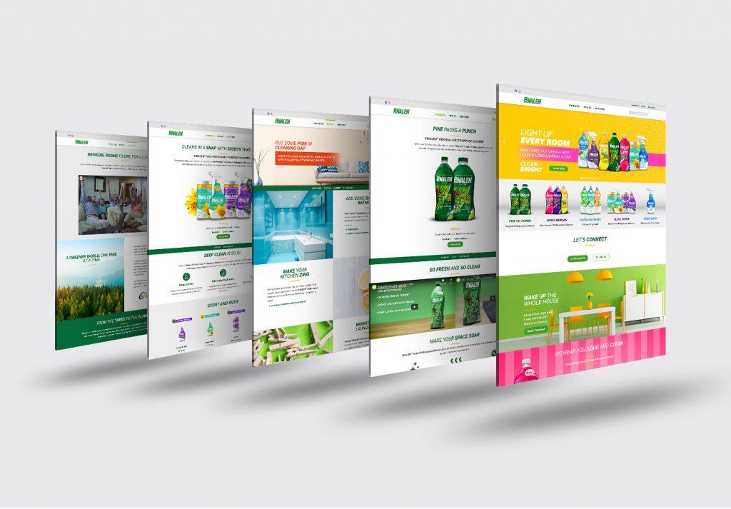 pinalen website multi-pages