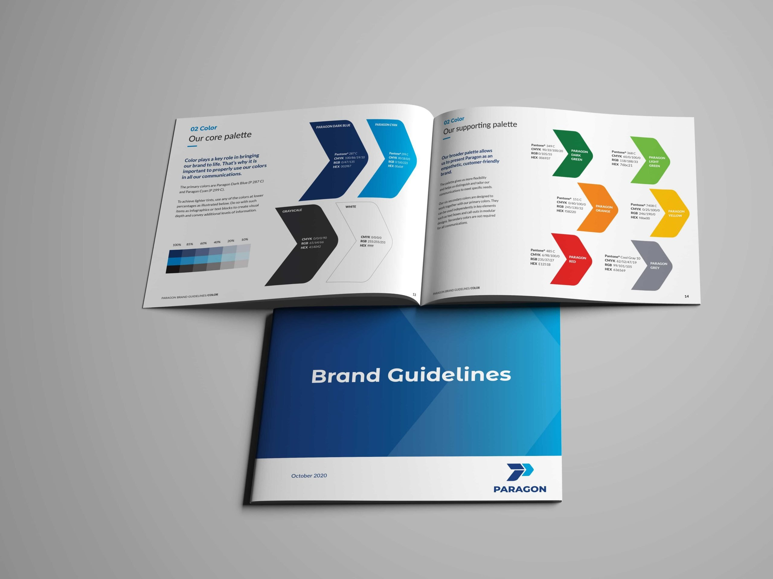 Paragon Integrated services brand guidelines